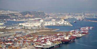 fotografia aeria barcelona   infraestructures port DE BARCELONA